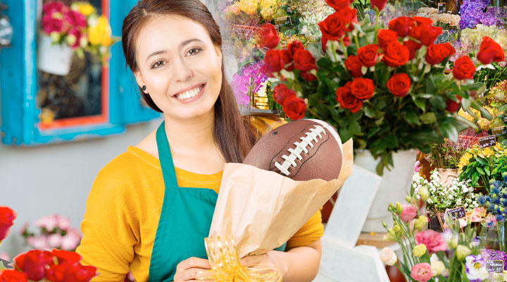 You wouldn't go to a flower shop for a football...